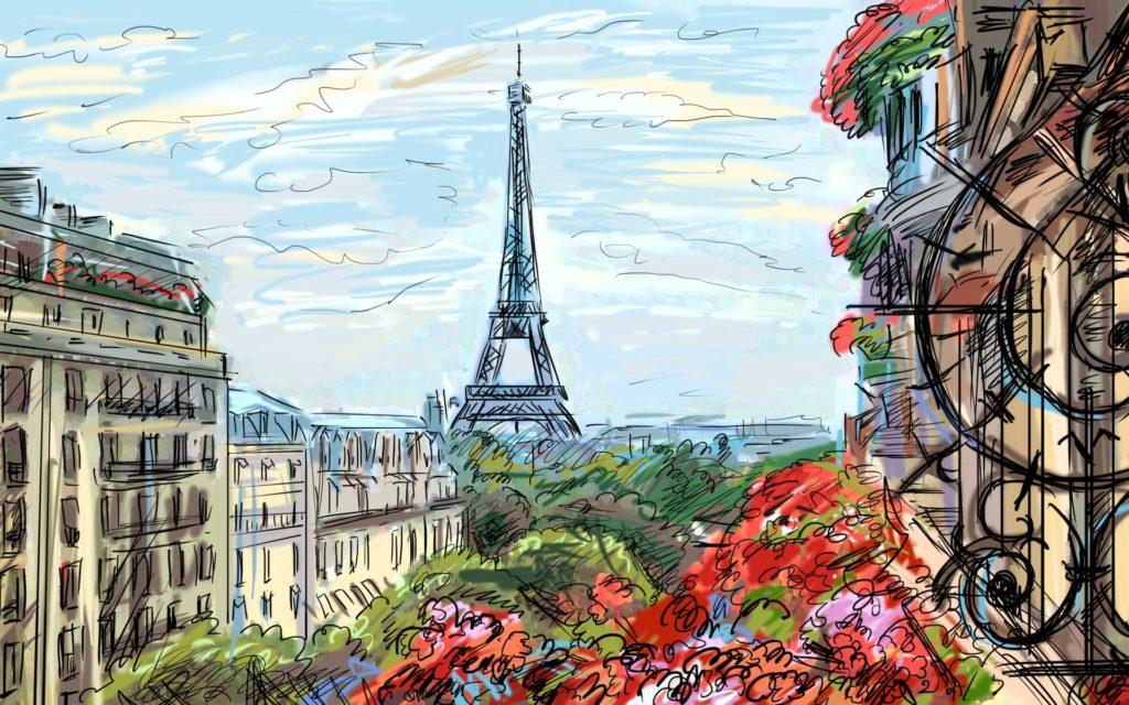 Красивые города рисованные